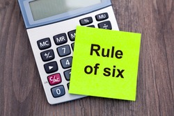 Covid-19 Restrictions in England - Calculator and a message 'Rule of six'