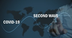 covid 19 second wave concept, healthcare concept