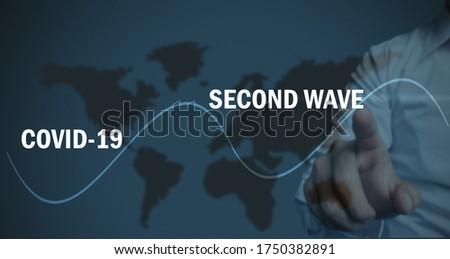 covid 19 second wave concept, healthcare concept  Foto stock ©