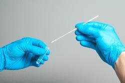 Covid test laboratory procedure. Antigen rapid, antibody, PCR, PCR-LAMP test in laboratory conditions.