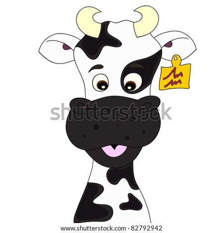 Cow cartoon. Also available as vector