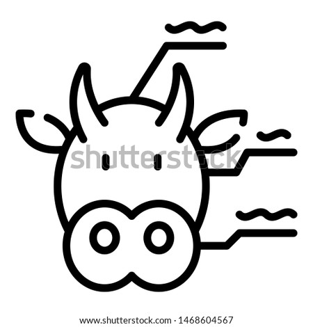 Cow genetics icon. Outline cow genetics icon for web design isolated on white background