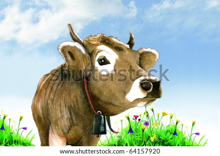 Cow Pencil Cow in a Meadow Pencil