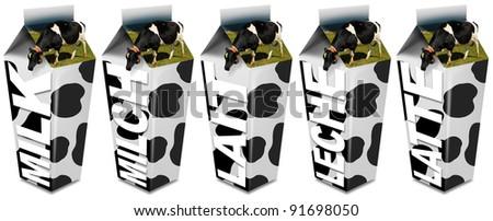 Cow's Milk packaging