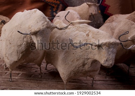 Cow sculpture from top view Foto d'archivio ©