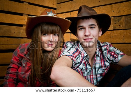 Cowboy and Cowgirl Couple