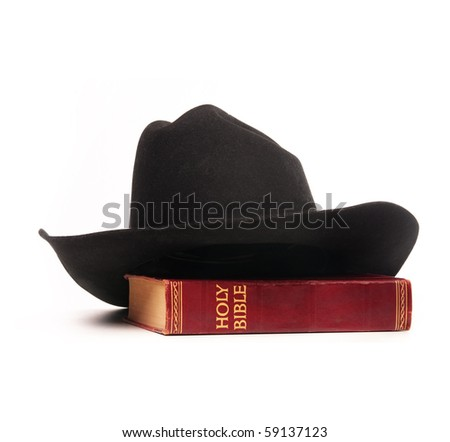 Cowboy hat and bible