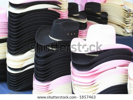 cowboy hats (pink and black)