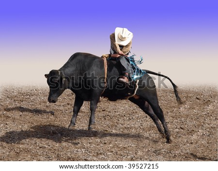 Cowboy Riding a Bull with partial isolation