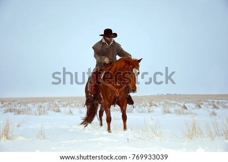 cowboy riding a horse in the...