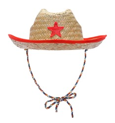 Cowboy Sheriff Hat Costume Cut Out on White.