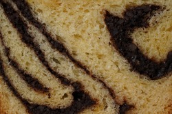 Cozonac- Closeup section of Romanian traditional sweet breat with nuts -Marbled