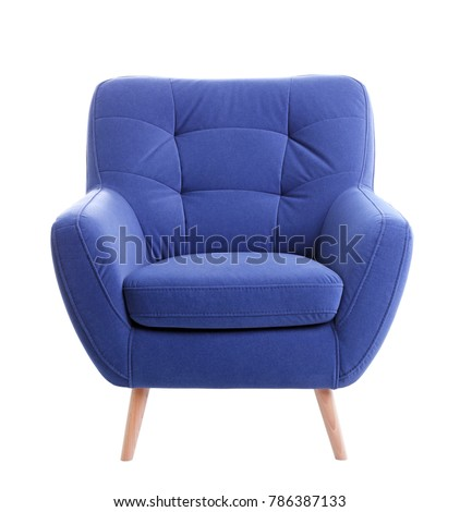 Cozy armchair isolated on white #786387133