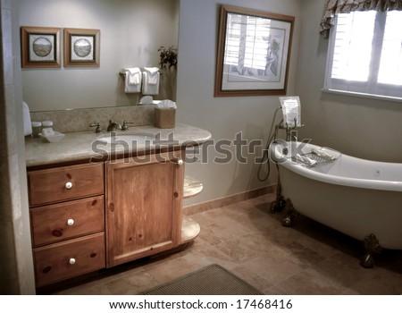 Cozy bathroom with clawfoot tub