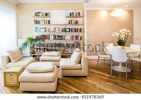 cozy classic furnished living room