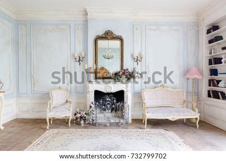 cozy interior of the living...