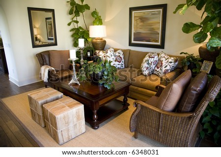 Cozy living room with modern decor. #6348031