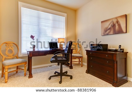 Cozy simple home office