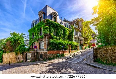 cozy street of old montmartre...