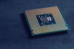 Cpu computer processor macro shot, shallow focus