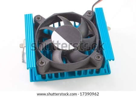 CPU Cooler isolated om black background