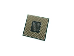 CPU isolated on a white background. CPU for a laptop.