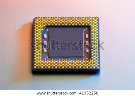 CPU isolated with clipping path