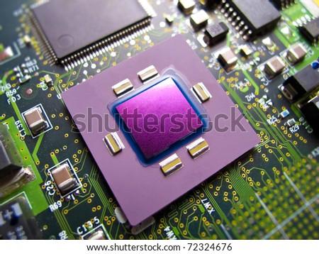 CPU macro photo