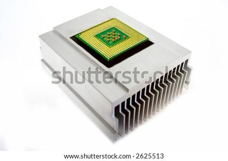 CPU on metal cooler