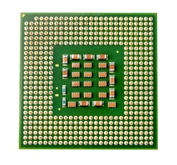 CPU processor, on white background, Selective focus for CPU processor.