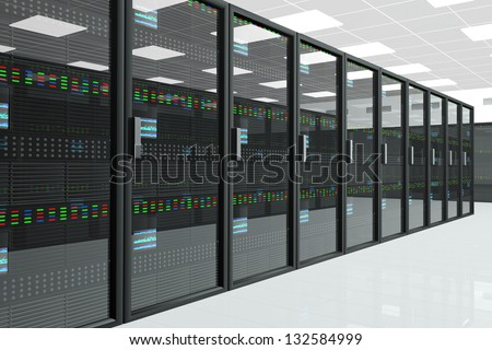 CPU Server Unit Room Data Center