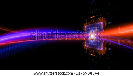 CPU socket. Modern technology. Big data center. Mobile device.Light effect. Future microcontroller. Blockchain. Energy gridSuper system. Virtual reality. Digital signal. Overclock module