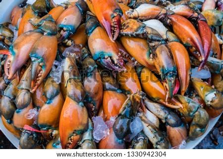 Crab claws raw food