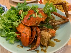Crab dishes are very common in Singapore, served in restaurants and hawker centres across the island