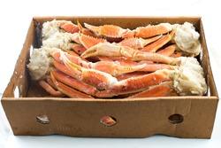 crab legs in box