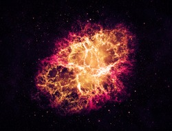 Crab Nebula - Elements of this Image Furnished by NASA
