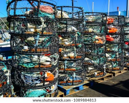 Crab Nets used by Half Moon Bay, California fishermen.