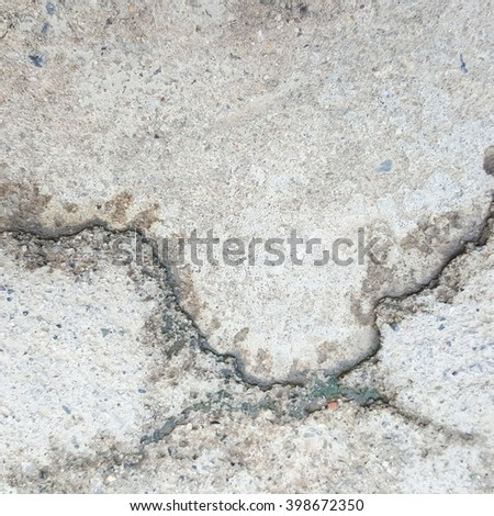 crack and grunge concrete texture #398672350