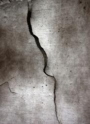 crack at cement, grunge background
