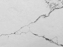 Crack concrete cement wall background in industrial building. It's high resolution surface and texture photo.