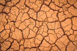 Crack earth/Crack soil on dry season/Global worming effect background