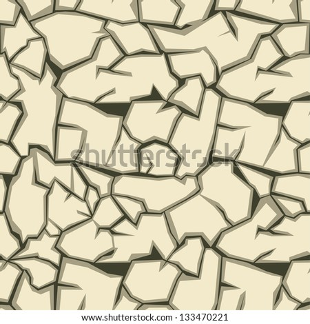 Crack ground seamless pattern. Raster version, vector file available in portfolio.
