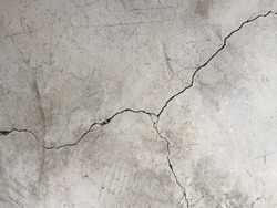crack of polish concreat floor.