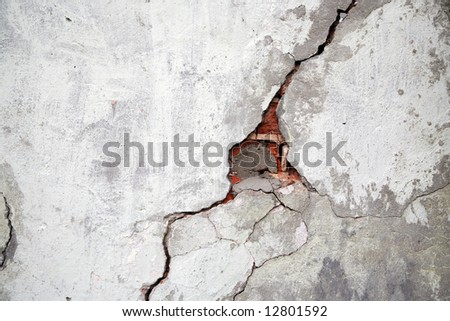 Crack on a wall of an old building