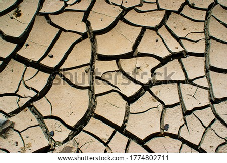 Crack texture macro details on soil Stok fotoğraf ©