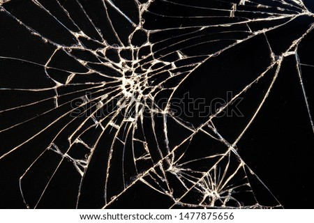 cracked after falling smartphone screen. a lot of cracks like a spider's web #1477875656