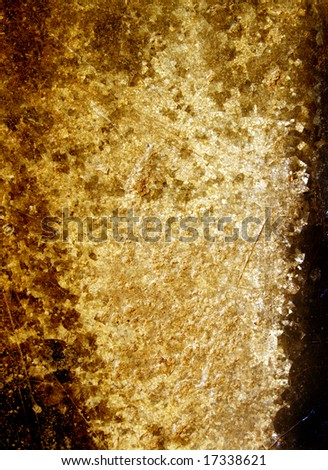 Cracked and stained stone wall - stock photo
