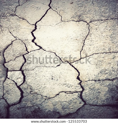 cracked cement stucco  wall ; grunge background