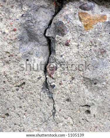 Cracked concrete monolith