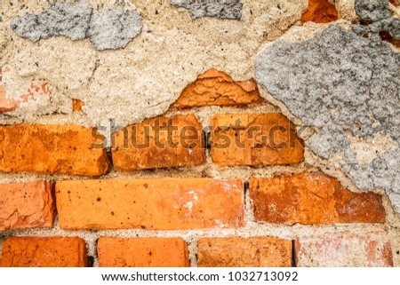 cracked concrete vintage wall background,old wall. #1032713092